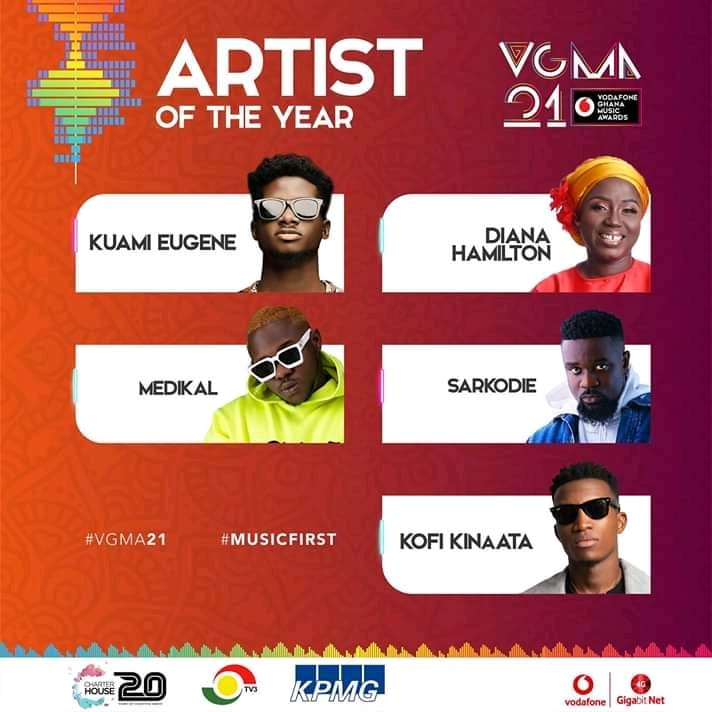 Artiste Of The Year vgma 2020