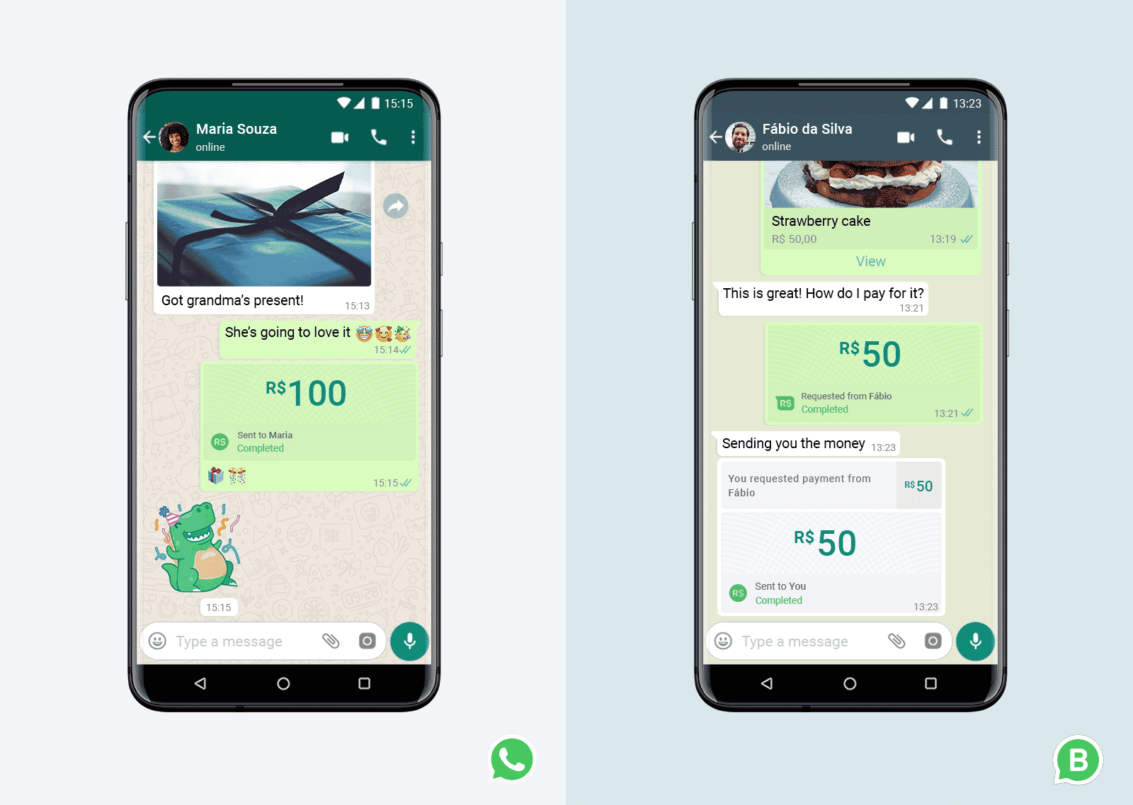 Send and receive money on WhatsApp
