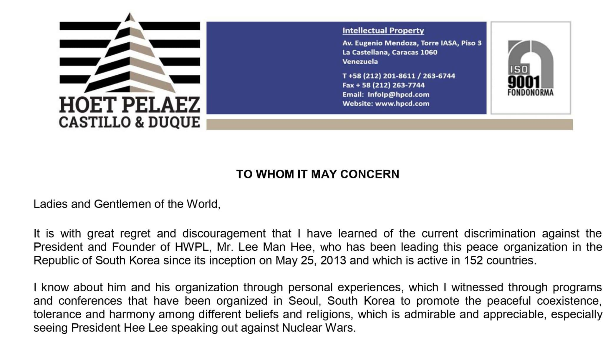 International Leaders and Human Rights NGOs Call on South Korea to Stop Oppression on Minor Religion for COVID-19
