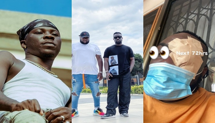 Stonebwoy Allegedly Attacks Sarkodie's Manager, Angel Town: Photos + Video