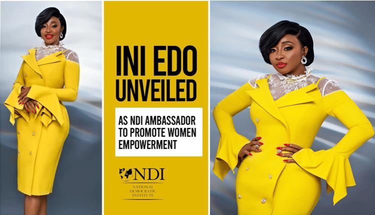 Ini Edo as tIni Edo as NDI ambassador for women empowerment in Nigeriaheir ambassador for women empowerment in Nigeria