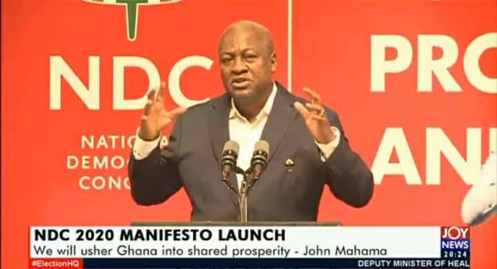 NDC 2020 Manifesto Launched