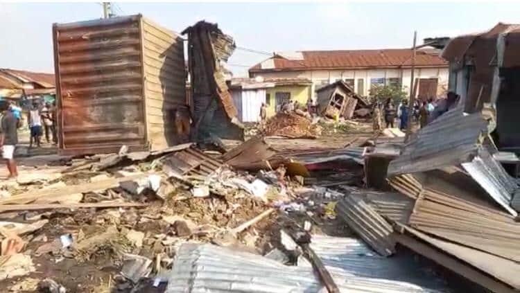 Kumasi Demolition: Over 100 Shops Demolished at Krofrom,
