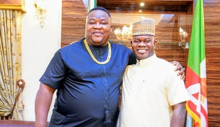 """""""Yahaya Bello is the future"""" – Cubana Chief Priest says as he meets him for the first time"""