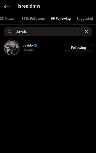 Davido Suspends Isreal DMW, Unfollows Him On Instagram